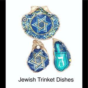 Jewish Shell Ring or Trinket Dish, Jewish Decor